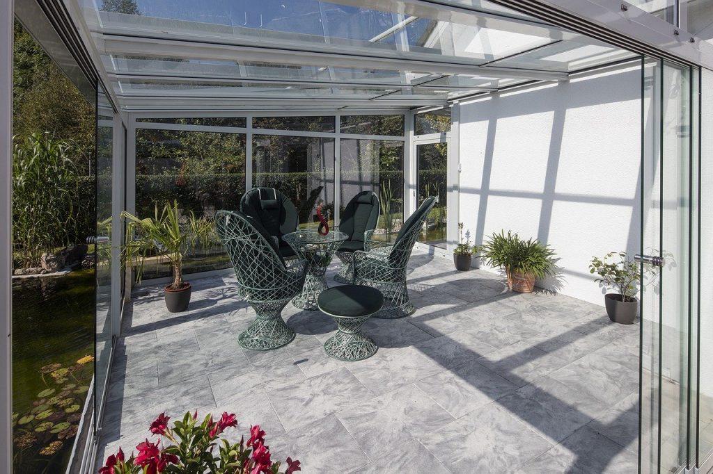 Jardin d'hiver, véranda aménagée