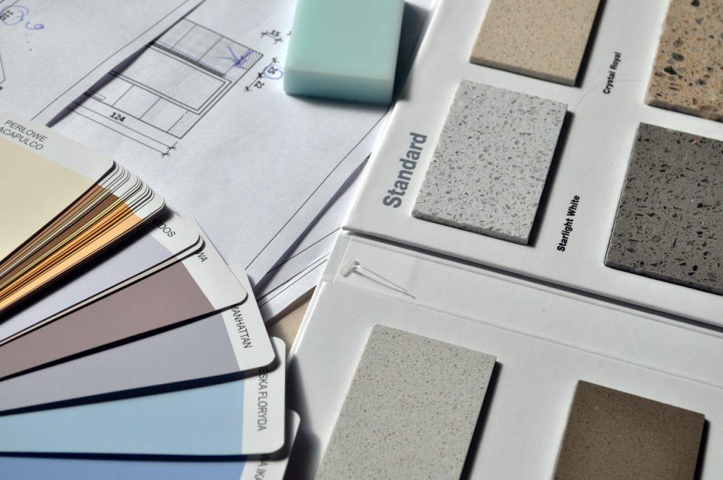 Palette de couleur, sol, couleur, matériaux