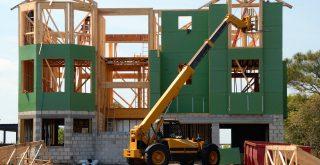 Chantier d'une construction de maison